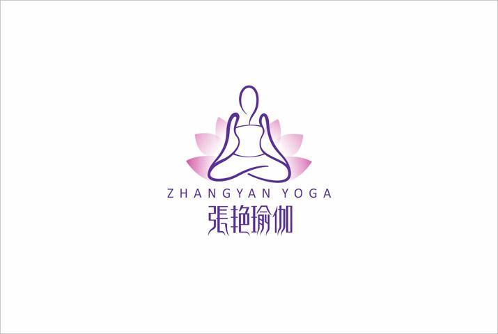 张艳瑜珈组合LOGO设计