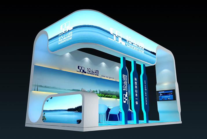 松山湖展览展厅二期左侧立体展示图